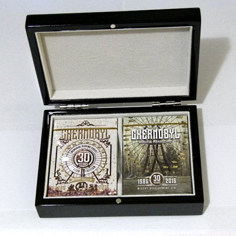 Chernobyl Playing Cards Limited Editions Gloss Wooden Box
