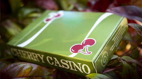 Cherry Casino Playing Cards Fremonts Sahara Green Edition Pearlescent Ink