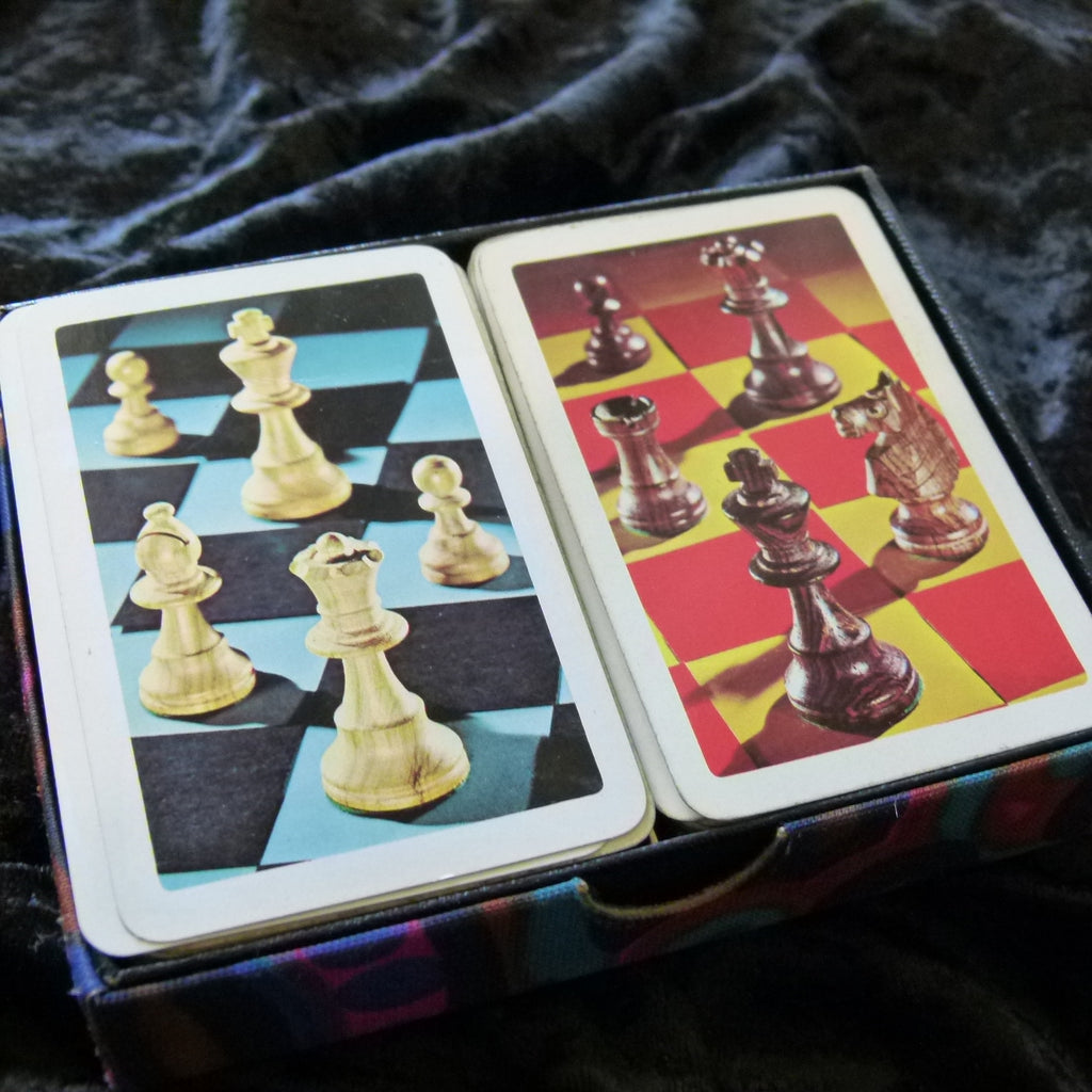 Chess Vintage Playing Cards Rare 2 Deck Set by Reed USA