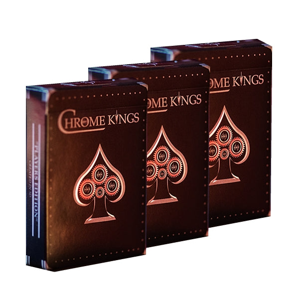 CHROME KINGS Playing Cards Players Edition ~ 3 Deck Collectors Set