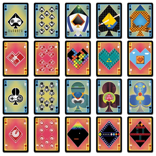Buyworthy:Classic Console Playing Cards 2nd Edition Deck Retro Nintendo Atari ~ Brand New