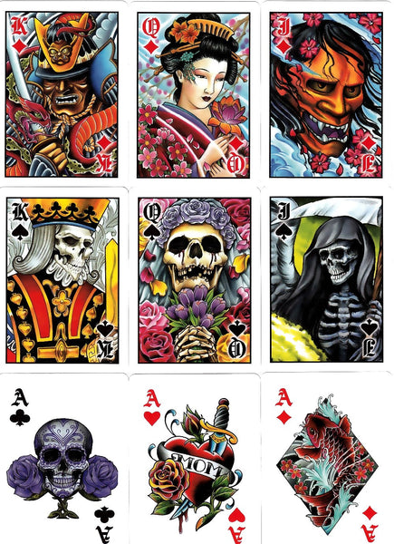 Buyworthy:Club Tattoo Yellow Playing Cards Premium Artwork Poker Magic Deck Made in USA