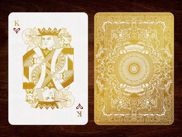 Buyworthy:Collectors Elite Playing Cards Gold Luxury Embossed Case Deck Made in USA