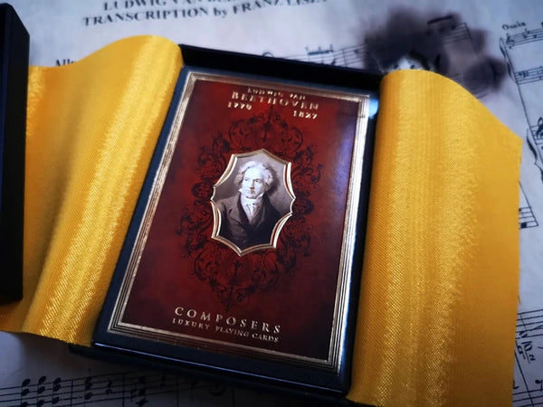 Composers Playing Cards L.V. Beethoven Luxury Boxed Edition + 2 Coins