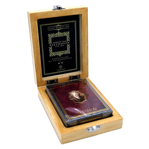 Composers Playing Cards Beethoven Edition Luxury Wooden Boxset No. 11