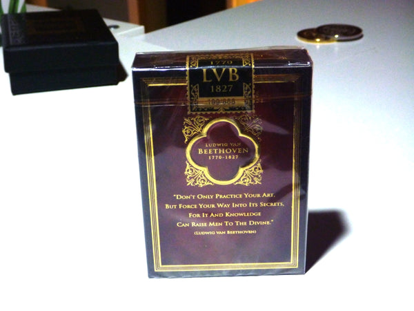 Composers Playing Cards Beethoven Edition Luxury Wooden Boxset No. 10