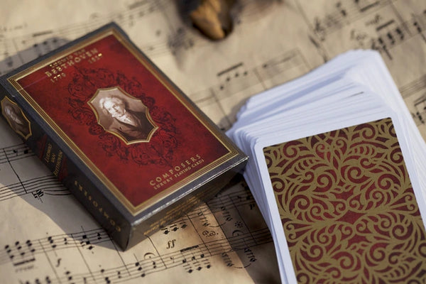 Composers Playing Cards Beethoven Edition Luxury Wooden Boxset No. 7