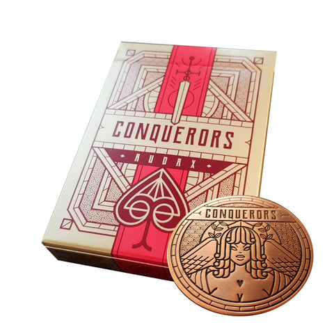 Conquerors Playing Cards Audax Edition by Thirdway Industries + Bronze Coin