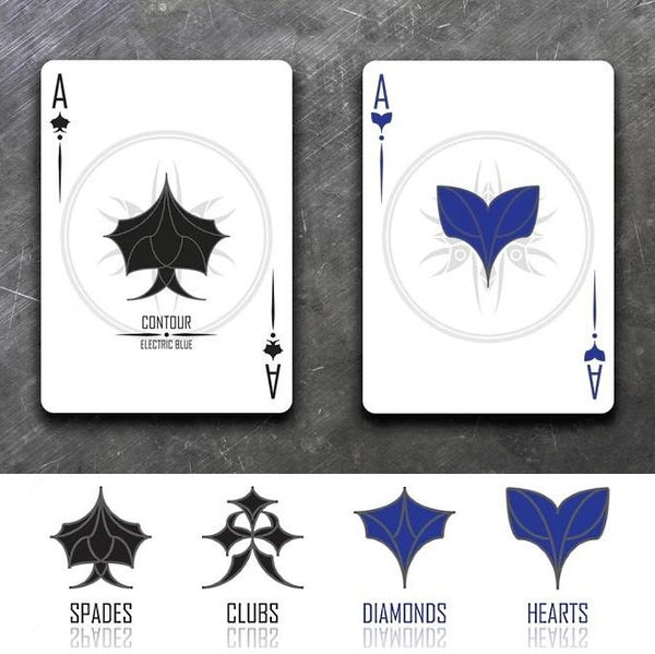 Buyworthy:Contour Electric Blue Playing Cards Deck Designed by Jason Nguyen USA