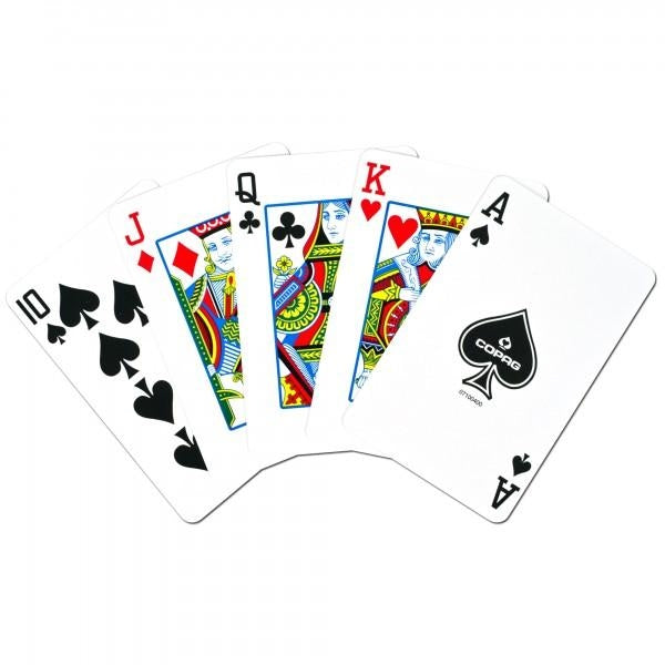 Copag 100% Plastic Playing Cards Bridge Size Blue Red 2-Deck Set