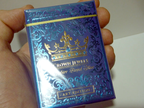 Crown Jewels Playing Cards Sapphire Royal Blue v1 Gold Foiled Art Edition