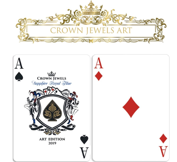 Crown Jewels Playing Cards Sapphire Royal Blue V1 Luxury Boxset