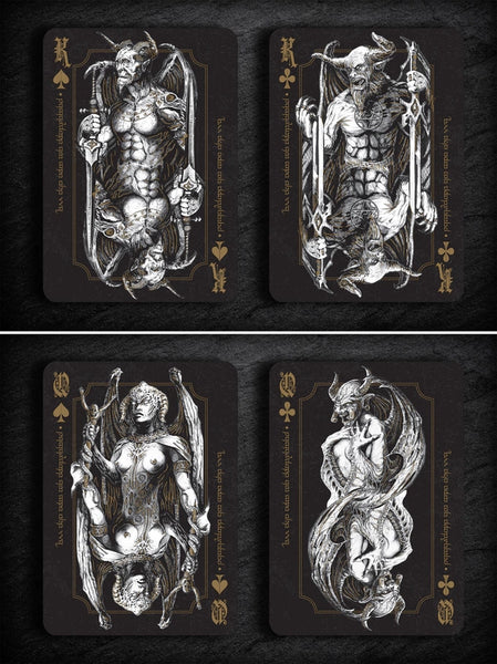 Culminus Infernum Playing Cards Designed in Denmark + Rare Collectors Pouch