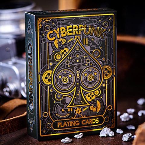 Cyberpunk Playing Cards Gold Edition hand-illustrated deck
