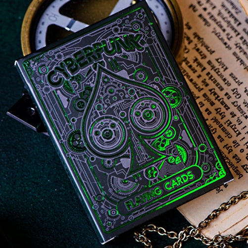 Cyberpunk Playing Cards Green Edition hand-illustrated deck