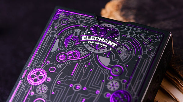 Cyberpunk Playing Cards Purple Edition hand-illustrated deck