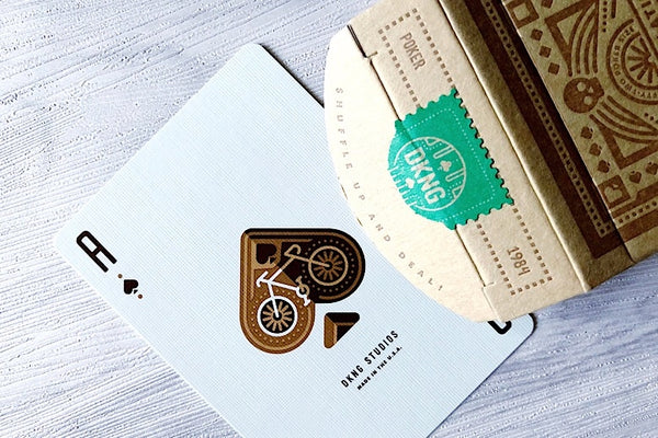 DKNG Green Wheel Playing Cards Deck by Art of Play Limited Edition