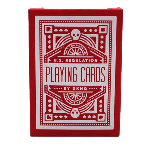 DKNG Red Wheel Playing Cards Deck by Art of Play