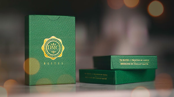 DMC Elites Forest Green Playing Cards Magic Marked V4 Deck