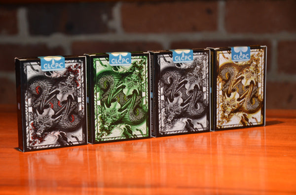Buyworthy:Dragon Series Playing Cards Gold Silver Black & Green Brand New ~ 4 Decks Set
