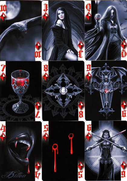 Anne Stokes Dark Hearts Playing Cards Gothic Fantasy Magic