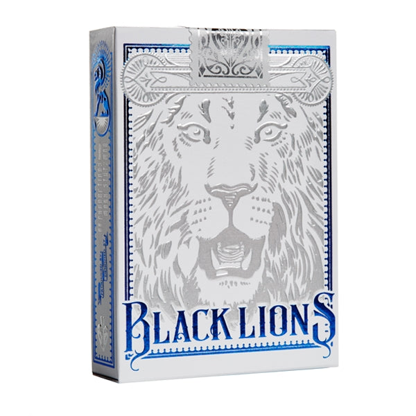 David Blaine Black Lions Playing Cards Official Blue Signature Edition