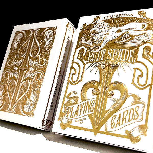 David Blaine Gold Split Spades Playing Cards Gold Foil Metalluxe Edition