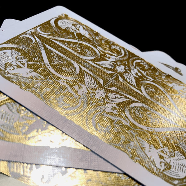 David Blaine Gold Split Spades Playing Cards Gold Foil Rare Metalluxe Edition