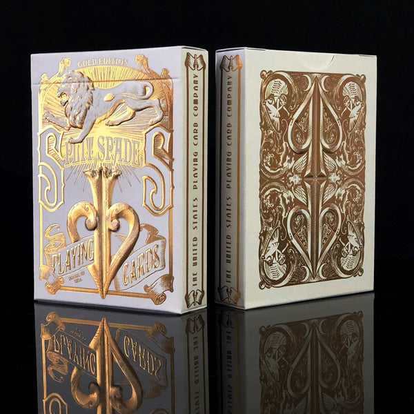 David Blaine Gold Split Spades Playing Cards Gold Foil Rare Signed 2020 Edition