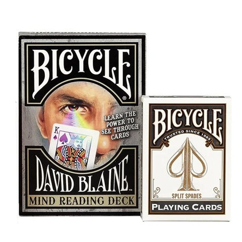 David Blaine Playing Cards Learn Magic Mind Reading Deck with 9 effects