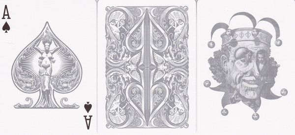 David Blaine Split Spades Playing Cards Silver Edition Rare Deck