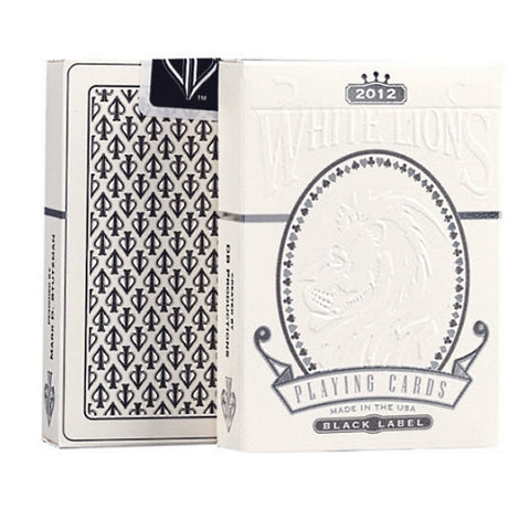 David Blaine White Lions Playing Cards Black Label Rare Marked Deck