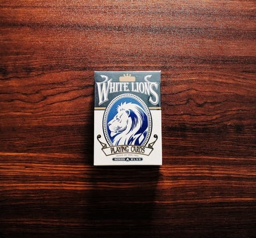David Blaine White Lions Playing Cards Series A Blue Rare Marked Deck