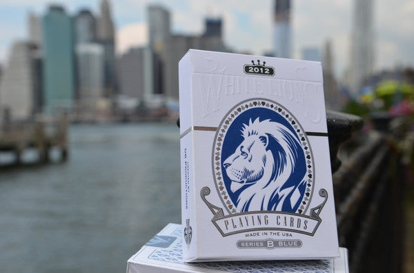 David Blaine White Lions Playing Cards Series B Blue Rare Marked Deck