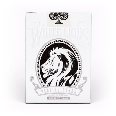 David Blaine White Lions Playing Cards Official Black 2018 Tour Reverse Edition