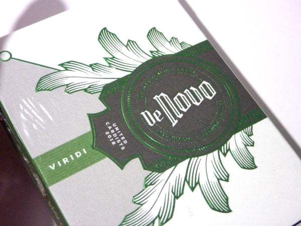 De Novo Playing Cards Green Viridi Edition United Cardists (UC) 2018
