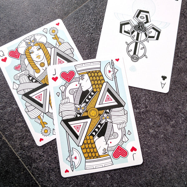 Dedalo Alpha Omega Playing Cards Foil Case Thirdway 2 Decks