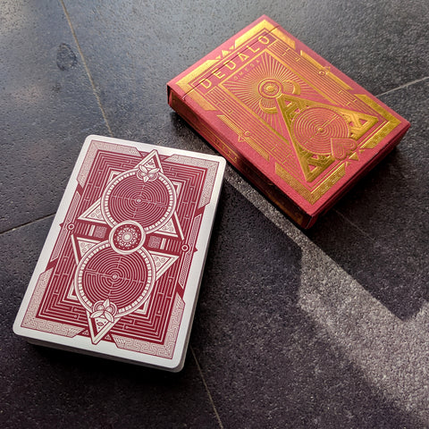 Dedalo Omega Playing Cards Gold Foil Embossed by Thirdway
