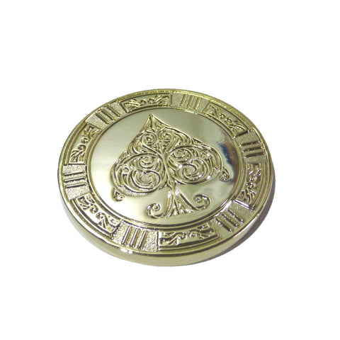 Deluxe Coin Card Guard by Elite Playing Cards antique 24K Gold plated finish