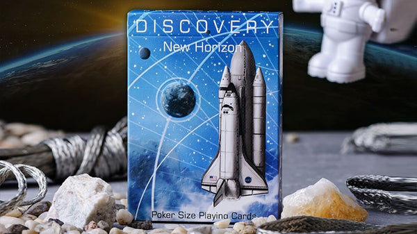 Discovery Final Frontier Playing Cards Blue Nasa American Edition
