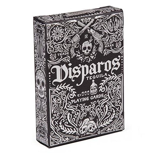 Disparos Playing Cards Black Tequila Deck by Ellusionist