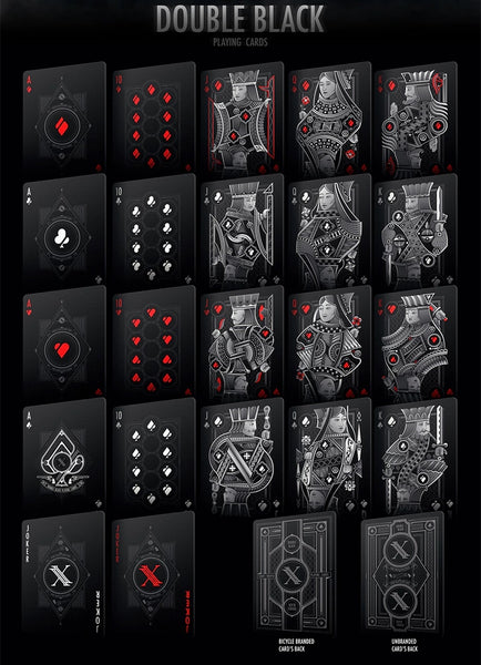 Double Black Playing Cards Ultimate Collection ~ 4 Deck Boxset Case