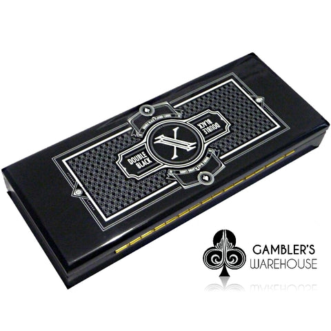 Double Black Playing Cards Collectors Case (Empty) holds 4-decks