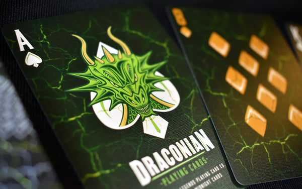 Draconian Wildfire Playing Cards Dragon deck by Midnightcards