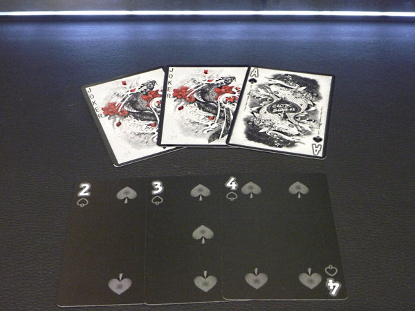 Buyworthy:Dragon Series Playing Cards Black Edition Poker Magic Deck ~ Japanese Artwork New