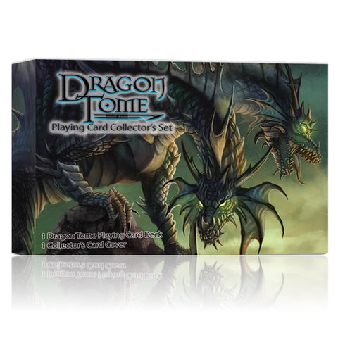 Dragon Tome Playing Cards Collectors Gift Set  Box + Coin