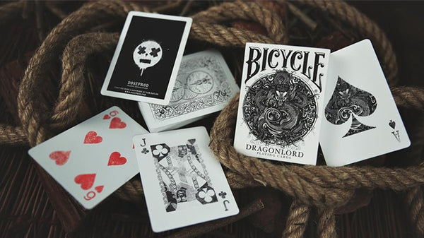 Dragonlord Playing Cards White Edition + Envelope of 5 Gaff Cards