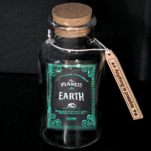 Earth Playing Cards deck in a Glass Bottle Magic Collectors AIP