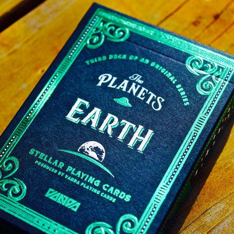 The Planets Earth Playing Cards Vanda Artist Series Holographic Foil