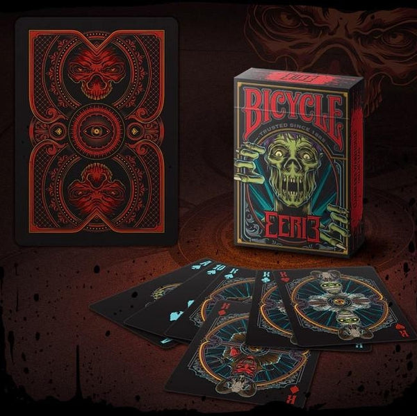 Buyworthy:Eerie Playing Cards Horror Red Edition Halloween Magic Poker Deck Undead New